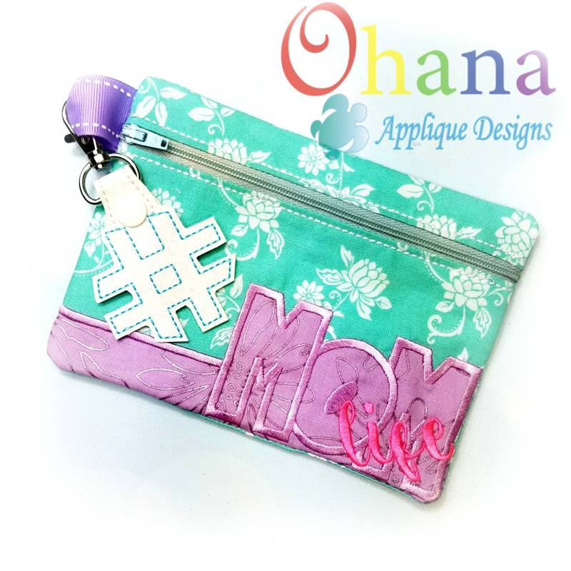 Mom Life Zipper Bag