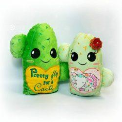 Cactus Stuffie Embroidery Design