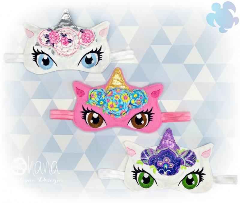Floral Unicorn Sleeper Mask