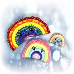 rainbow stuffie embroidery design