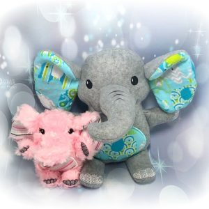 Elephant Stuffie Embroidery Design