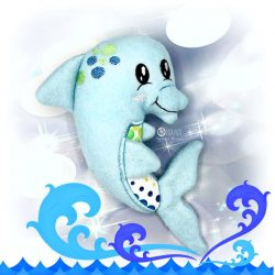 Dolphin Stuffie Embroidery Design