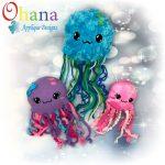 Jellyfish Stuffie Embroidery Design