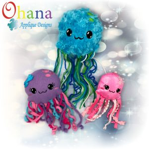 Jellyfish Stuffie Embroidery Design