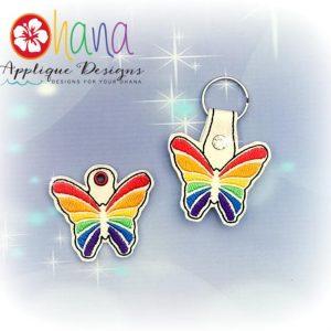 Rainbow Butterfly Key Chain