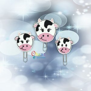 Cow Feltie Embroidery Design