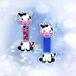 Cow Ribbon Bookmark Embroidery