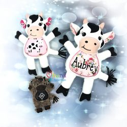 Cow Stuffie Embroidery Design