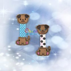 Puppy Dog Ribbon Bookmark