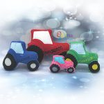 Tractor Stuffie Embroidery Design