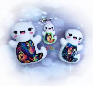Ghost stuffie embroidery design