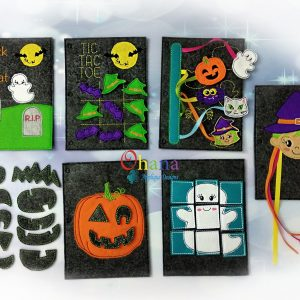 Halloween Quiet Book Embroidery