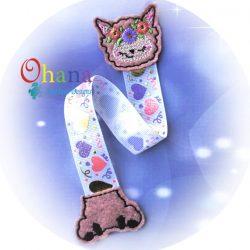 Floral Llama Ribbon Bookmark