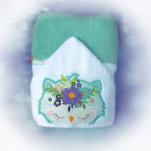 Floral Owl Peeker Embroidery