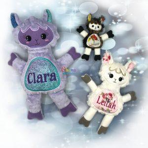Llama Stuffie Embroidery Design