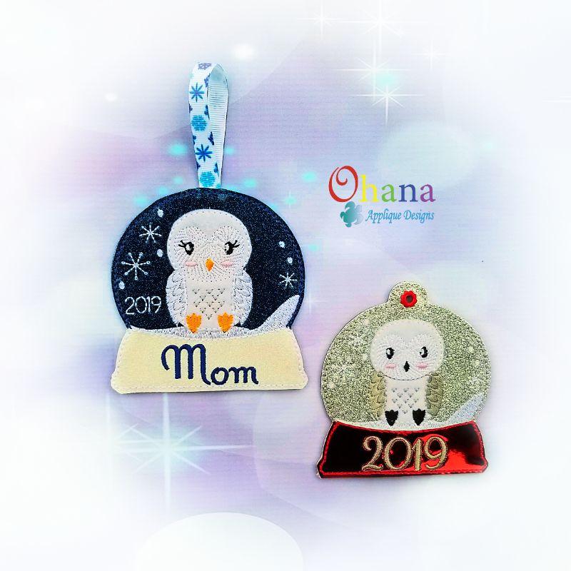 Arctic Owl Snowglobe Ornament