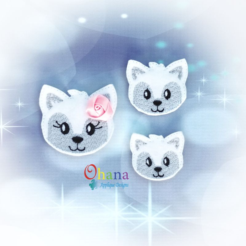 Wolf Feltie Embroidery Design
