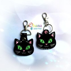 Cat Key Chain Embroidery