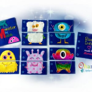 Monster Quiet Book Embroidery