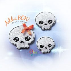Skeleton Feltie Embroidery Design
