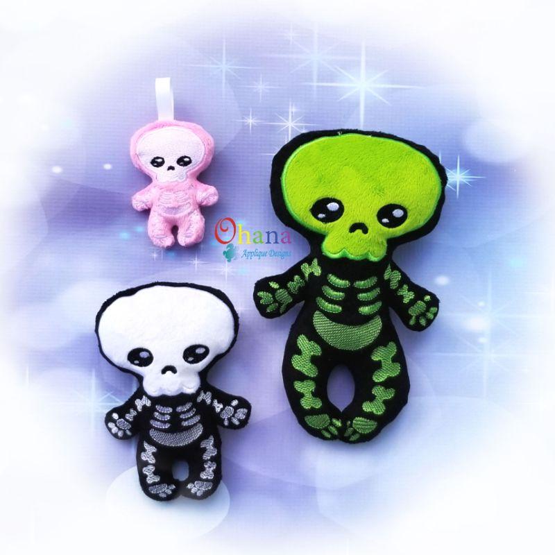 Skeleton Stuffie Embroidery Design