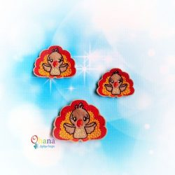 Turkey Feltie Embroidery Design