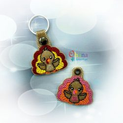 Turkey Key Chain Embroidery