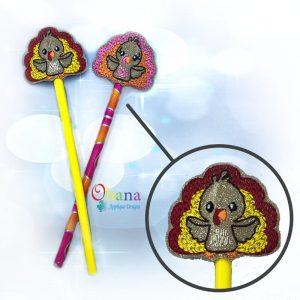 Turkey Pencil Topper Embroidery