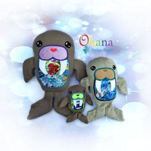 Walrus Stuffie Embroidery Design