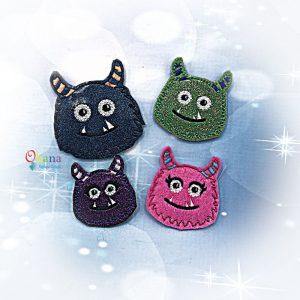Furry Monster Feltie Embroidery