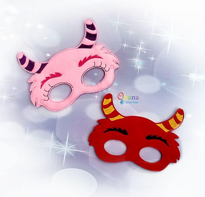 Horned Monster Pretend Mask