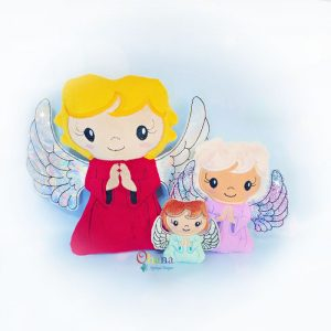 Angel Stuffie Embroidery Design