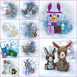 Kangaroo Bundle Embroidery Design