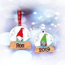 Gnome Boy Snowglobe Ornament