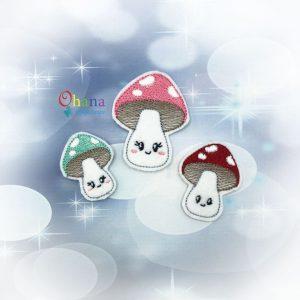 Kawaii Mushroom Feltie Embroidery
