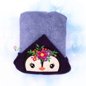 Floral Penguin Peeker Embroidery