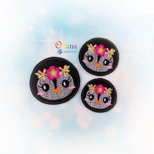 Floral Penguin Feltie Embroidery