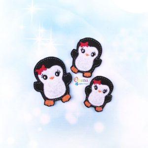 Penny Penguin Feltie Embroidery