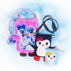 Penguin Zipper Bag Embroidery