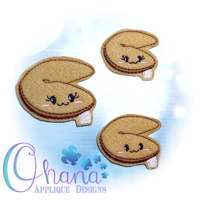 Fortune Cookie Feltie Embroidery