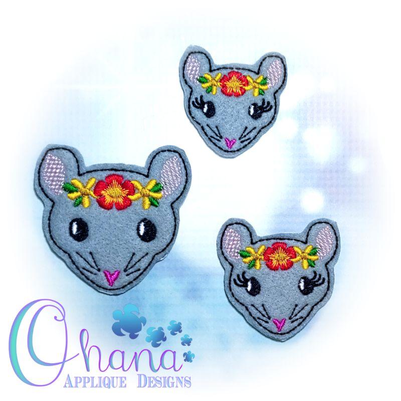 Floral Rat/ Mouse Feltie