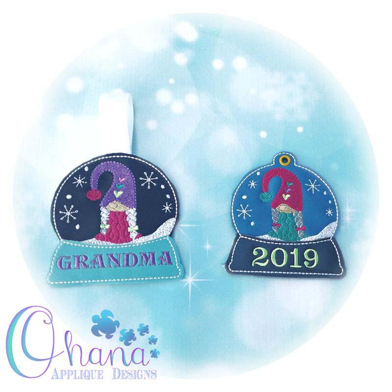 Gnome Girl Snowglobe Ornament