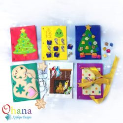 Christmas Quiet Book Embroidery