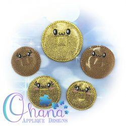 Kawaii Lucky Coin Feltie