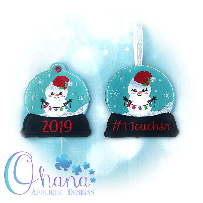 Garland Snowman Snowglobe Ornament
