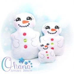 Snowman Stuffie Embroidery Design