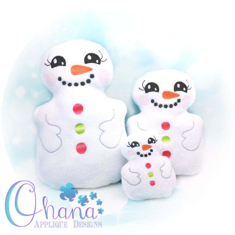 Snowman Stuffie Embroidery Design