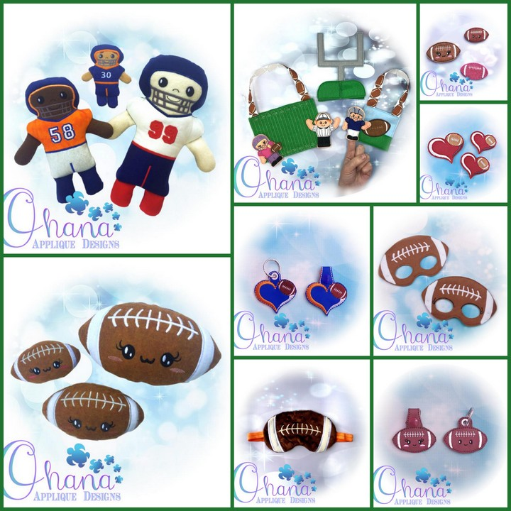 Football Bundle Embroidery Design