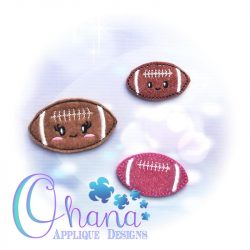 Kawaii Football Feltie Embroidery