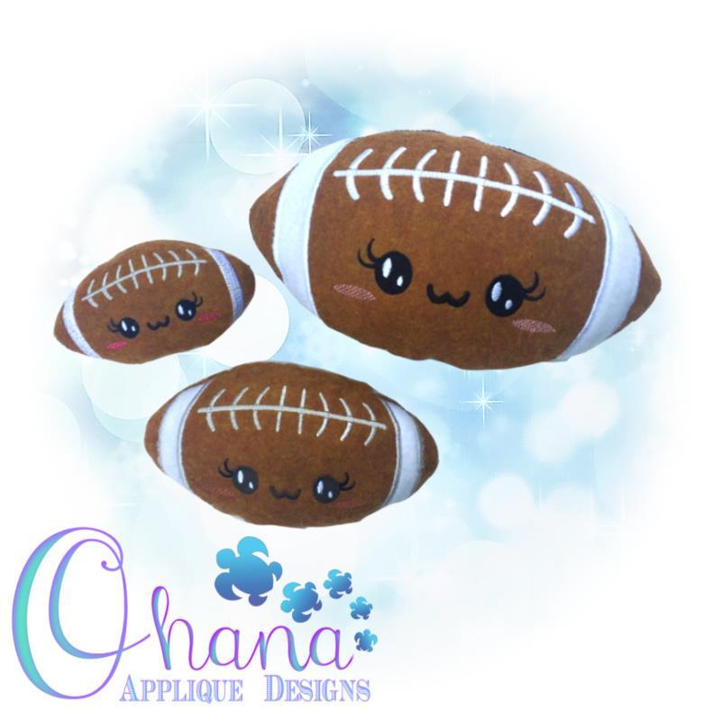 Kawaii Football Stuffie Embroidery